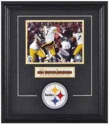 Ben Roethlisberger Pittsburgh Steelers Framed 6'' x 8'' Photograph with Team Logo & Plate - Mounted Memories