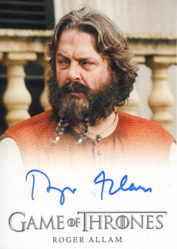 Roger Allam Autographed Game of Thrones Card