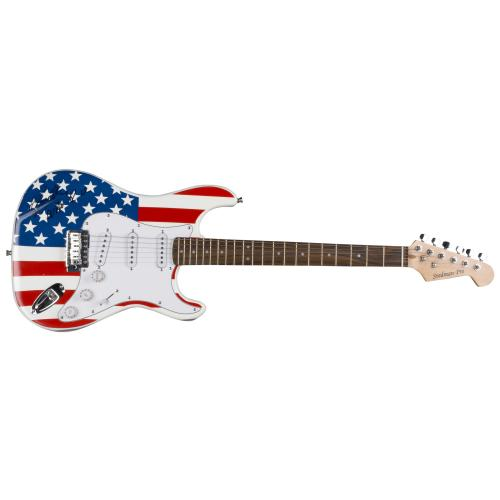 Roger Daltrey Autographed USA Flag Electric GuitarThe Who With Who R U Inscription - PSA/DNA