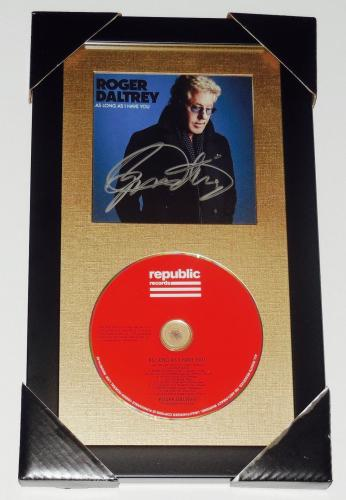 Roger Daltrey Autographed Cd Cover (framed & Matted) - W/ Coa! - The Who!