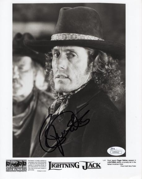 ROGER DALTREY HAND SIGNED 8x10 PHOTO    AWESOME+RARE    SINGER FOR THE WHO   JSA