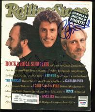 Roger Daltrey & John Entwistle Signed Rolling Stone Magazine Cover PSA #AB03369