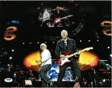 Roger Daltrey & Pete Townshend Signed The Who Auto 11x14 Photo PSA/DNA #Z62665
