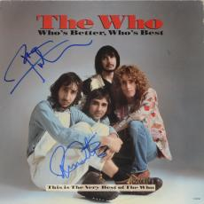 Roger Daltrey & Peter Townshend Autographed The Who Who's Better, Who's Best Album - PSA/DNA LOA