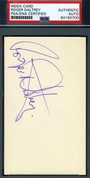 Roger Daltrey Psa Dna Coa Signed 3x5 Index Card Autograph