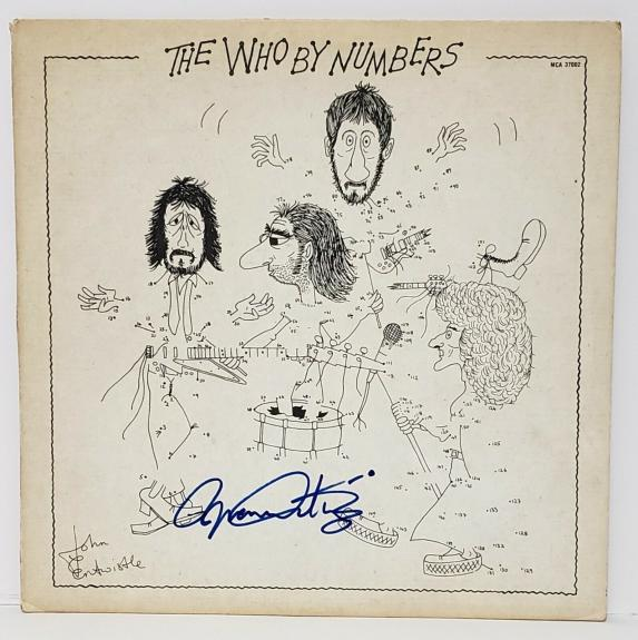 "ROGER DALTREY Signed Autographed ""The WHO By Numbers"" Album LP JSA #GG61080"