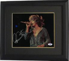 Roger Daltrey signed The Who 8x10 Photo Custom Framed (horizontal)- PSA Hologram (music/entertainment)
