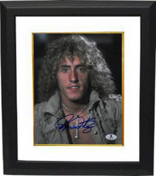 Roger Daltrey signed The Who 8x10 Photo Custom Framing- Beckett #B01573 (music/entertainment)