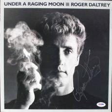 Roger Daltrey Signed Under A Raging Moon Album Cover PSA/DNA #V16031