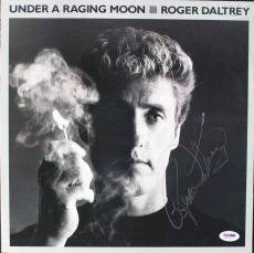 Roger Daltrey Signed Under A Raging Moon Album Cover PSA/DNA #V16031
