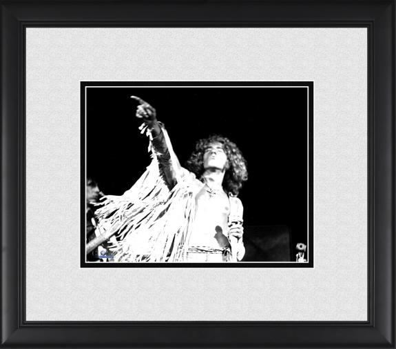 "Roger Daltrey The Who Framed 8"" x 10"" Pointing on Stage Photograph"