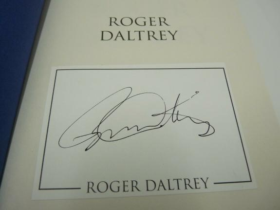 Roger Daltrey The Who Signed Autographed HB Book Beckett BAS Certified #2