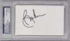 ROGER MOORE 007 JAMES BOND Signed Autographed Index Card PSA/DNA Slabbed #H21739