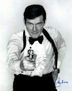 "Roger Moore Autographed 16"" x 20"" James Bond The Man With the Golden Gun Photograph - JSA COA"