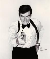 "Roger Moore Autographed 20"" x 30"" James Bond The Man With the Golden Gun Stretched Canvas - PSA/DNA"