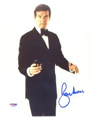 "Roger Moore Autographed 8""x 10"" James Bond Black Tux Photograph - PSA/DNA COA"