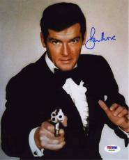 Roger Moore Bond Autographed Signed 8x10 Photo Certified Authentic PSA/DNA COA