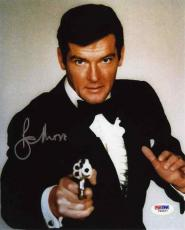 Roger Moore Bond Autographed Signed 8x10 Photo Certified PSA/DNA COA