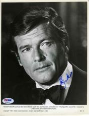 Roger Moore Bond Vintage Autographed Signed 8x10 Photo Authentic PSA/DNA COA