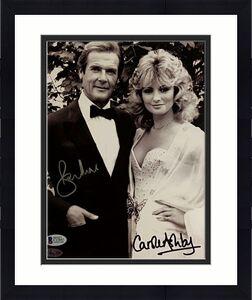 Roger Moore + Carole Ashby Signed 8x10 James Bond 007 Photo #2 Beckett BAS COA