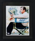 "Roger Moore Framed Autographed 11"" x 14"" James Bond Photograph - PSA/DNA"