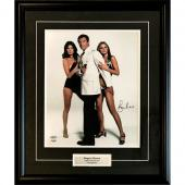Roger Moore Framed Autographed 11X14 Photo