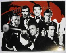 Roger Moore & George Lazenby Hand Signed James Bond 11x14 007 Auto PSA/DNA COA