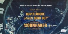 Roger Moore Hand Signed Moonraker Promo Foldout    James Bond     Rare       Jsa