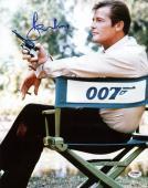 Roger Moore James Bond 007 Signed 11X14 Photo Autographed PSA/DNA 4