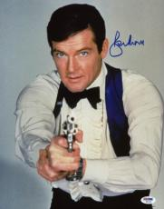 Roger Moore James Bond 007 Signed 11X14 Photo Autographed PSA/DNA 6
