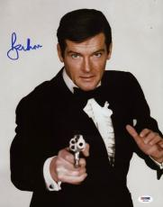 Roger Moore James Bond 007 Signed 11X14 Photo Autographed PSA/DNA 7
