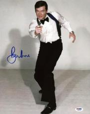 Roger Moore James Bond 007 Signed 11X14 Photo Autographed PSA/DNA 8