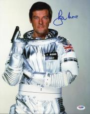Roger Moore James Bond 007 Signed 11X14 Photo Autographed PSA/DNA 9