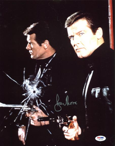 Roger Moore James Bond 007 Signed 11x14 Photo PSA/DNA #W91334