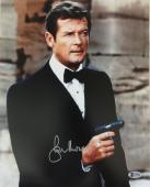 Roger Moore James Bond 007 Signed Authentic 11X14 Photo Autographed BAS COA 1