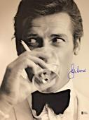 Roger Moore James Bond 007 Signed Authentic 11X14 Photo Autographed BAS COA #13