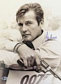 Roger Moore James Bond 007 Signed Authentic 11X14 Photo Autographed BAS COA #5