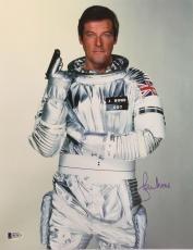Roger Moore James Bond 007 Signed Authentic 11X14 Photo Autographed BAS COA #7