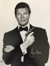 Roger Moore James Bond 007 Signed Authentic 11X14 Photo Autographed BAS COA #8