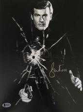 Roger Moore James Bond 007 Signed Authentic 11X14 Photo Autographed BAS COA #9