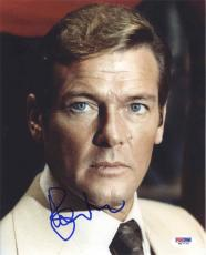 Roger Moore James Bond Autographed Signed 8x10 Photo Certified PSA/DNA AFTAL COA