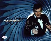 Roger Moore James Bond Autographed Signed 8x10 Photo Certified PSA/DNA AFTAL