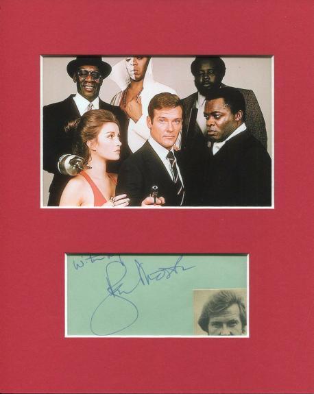 Roger Moore James Bond Live And Let Die Rare Signed Autograph Photo Display JSA