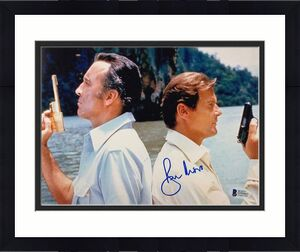 Roger Moore JAMES BOND Man with the Golden Gun signed 8x10 photo BAS COA Beckett