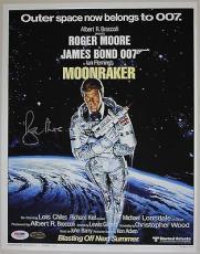 Roger Moore James Bond Signed 11x14 Photo 007 Auto PSA/DNA COA Moonraker