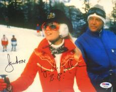 "ROGER MOORE & LYNN-HOLLY JOHNSON Signed ""JAMES BOND 007"" 8x10 Photo PSA/DNA"