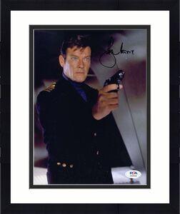 Roger Moore PSA DNA Cert Signed 8x10 James Bond Photo Autographed