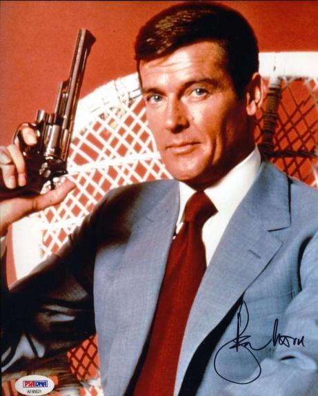 Roger Moore Psa Dna Coa Hand Signed 8x10 James Bond 007 Photo Autograph