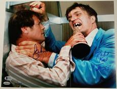 ROGER MOORE RICHARD KIEL Signed 11x14 Photo James Bond Beckett COA  # 001 of 007