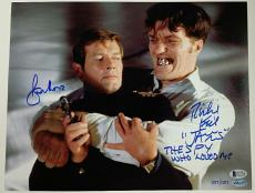 ROGER MOORE RICHARD KIEL Signed 11x14 Photo James Bond Beckett COA # 001 of 007